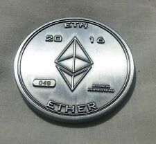 #64 Ethereum ETH Silver 2oz Ether Coin (Casascius/Physical bit coin/RARE COIN)