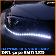DRL 5050 SMD LED Daytime Running Lamp Car Waterproof Flexible White Head Lights