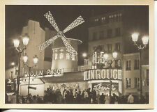POST CARD OF MOULIN ROUGE NIGHT CLUB IN PARIS