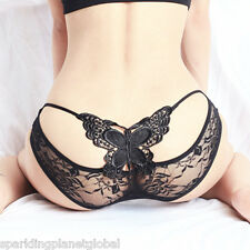 Big Butterfly Sexy Lace See-Through G-String Underwear Lingerie Panties Knickers