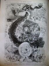 CAEN FETES CAVALCADE RETRAITE FLAMBEAUX ITALIE FERRARE ARIOSTE GRAVURES 1875