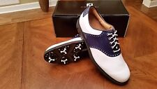 Footjoy Custom ICON MyJoys Mens Golf Shoes 52010 NEW Wh/Navy Snake 10WD $349 RET