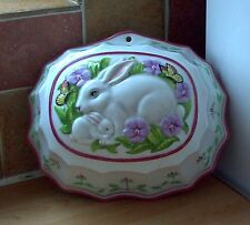 FRANKLIN MINT RABBIT & KIT WALL mount MOULD, retro, vintage, shabby chic