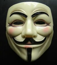 Maschera V per Vendetta REALE for Anonymous Rigida per Carnevale Halloween! 0203