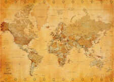 FREE SHIPPING Vintage World Map Giant Poster 1.4 x 1 Meter Wall Art Decor New