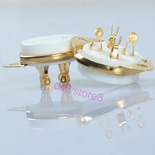 8pcs 4pin UX4 Base Ceramic Tube Socket Gold For 300B 2A3 45 572B 5U4G Valve Amp