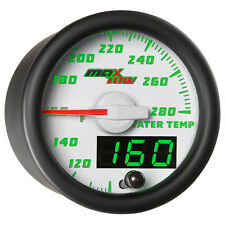 52mm White MaxTow Double Vision Water Temperature Temp Gauge - MT-WDV06