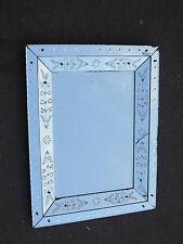 Miroir venise rectangulaire a fleurs et bulles 81 x 62 cm
