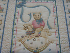 """Handmade Patchwork Panel Quilted / Throw - 40"""" x 50"""""""