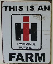 THIS IS IH FARM LOGO METAL SIGN international harvester tractor farmall   1279
