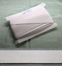 Elastic White Non Roll 25mm x 10 metres