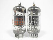 GE 5751 Vintage Tube Pair 3X Mica Short Gray Plates Round Getter (Test 83%)