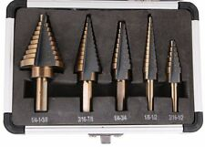 5PCS HSS Cobalt Multiple Hole 50 Sizes Step Drill Bit Set Tools Protective Case