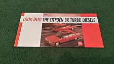 Mai 1988 citroen look into the bx turbo diesel-petite uk brochure concessionnaire stamp