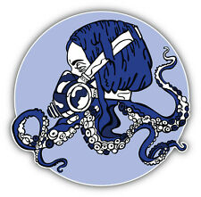 Steam Punk Octopus Girl Car Bumper Sticker Decal 5'' x 5''