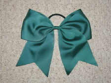 "NEW ""HUNTER GREEN"" Cheer Bow Pony Tail 3 Inch Ribbon Girl Hair Bows Cheerleading"