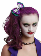 DC Comics Batman Joker HA HA Cosplay Hair Bow Tie Pin Clip Costume Dress-Up NEW