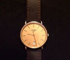 Mens Gold Sapphire Crystal TISSOT Quartz Watch With Date Used
