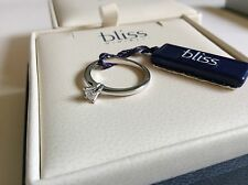 Bliss by Damiani 'Calice' 18K White Gold Diamond Ring Size 6 20030030