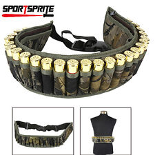 28Round Shotgun Shell Ammo Bullet Holder Belt Hunting Waist Ammo Pouch UK