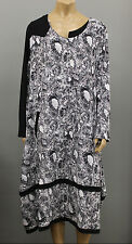 $298 ESCALADYA Euro Asymmetrical Jersey Printed Balloon Long Sleeves Dress 14