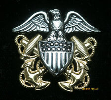 NAVAL OFFICER GARRISON REGULATION MINI CAP DEVICE HIGH RELIEF MADE N US NAVY PIN