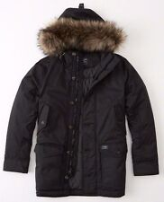 NWT  Abercrombie & Fitch Vintage Inspired Parka Down Jacket men's size M SAVE!