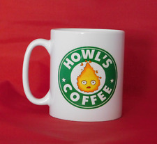 Howl's Moving Castle Anime Calcifer Starbucks Inspired Coffee Mug 10oz