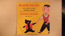 "Columbia Records ME AND MY TEDDY BEAR Rosemary Clooney 10"" 78rpm 1950"