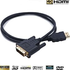 HDMI TO DVI (24+1) Cable,Premium Quality/1080p  24k Gold Plated TV, PC - 2Meter