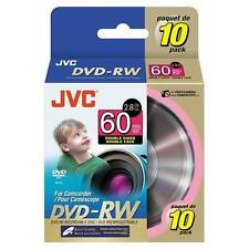 JVC VDW28G-10SP 8cm Rewritable DoubleSided DVD-RW for Camcorder - Pack of 10 NEW