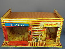 "VINTAGE TINPLATE METTOY No."" WILD WEST ""FORT COMMANDER ""LOG""CABIN/ STABLES"