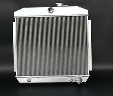 3 ROWS FIT 1955-57 CHEVY BEL AIR V8 ENGINE/V8 SUPPORT Aluminum Radiator