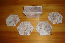 Five Piece Set of Elegant Marble Coasters with Holder