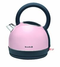 Breville Traditional Pick & Mix Strawberry Cream Stainless Steel Kitchen Kettle