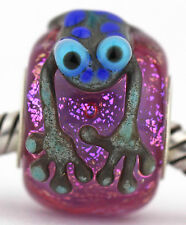 UGLY FROG sterling silver core european charm bead lampwork murano glass SRA MWR