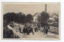 SUISSE SWITZERLAND Canton du JURA BONCOURT carte photo octobre 1917 militaire 1