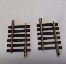 DE29) 2 rails petits droits 36 mm FLEISCHMANN 1700/5 train electrique HO