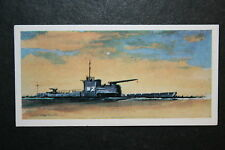 HM SUBMARINE Monitor   M2   Royal Navy Submarine   Illustrated Card   VGC