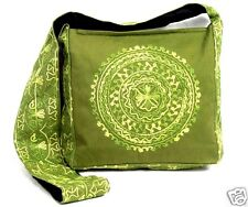 Embroidered Mandala Purse Shoulder Bag Green Ethnic Hippie Bohemian Gypsy New