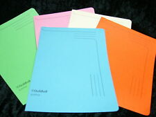 Pack of 5 Guildhall Slipfiles A4 Assorted Colours 4600 Sturdy Files 12.5 x 9""