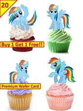 40 MY LITTLE PONY RAINBOW DASH Cup Cake Fairy Edible Wafer  Toppers *STAND UP*