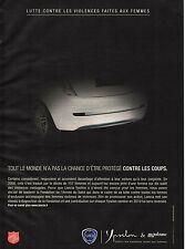 Publicité Advertising 2010 LANCIA ypsilon armée du salut madame figaro