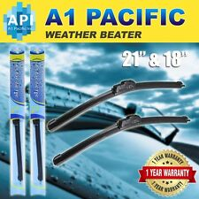 "All season Bracketless J-HOOK Windshield Wiper Blades OEM QUALITY 21"" & 18"""