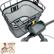 TOPEAK FRONT BLACK BICYCLE BASKET W/ FIXER 3 HANDLEBAR BRACKET