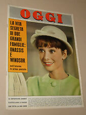 OGGI=1962/29=AUDREY HEPBURN COVER MAGAZINE=ANNIE GIRARDOT RENATO SALVATORI=