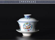 Ciotola di tè cinese collezione artigianale a mano a mano vernice LUSSO ciotola di tè e piattino