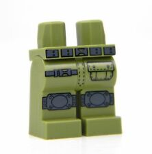 Custom Olive Green LEGO Army Tactical Legs with direct printed kneepads