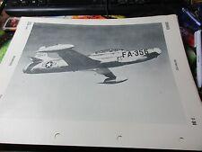 Militaria - 1950 War Plane/Jet Officil ID Sheet OPNAV 32P-1200 -  F-94
