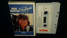 JOHN DENVER, WINDSONG, play-tested CASSETTE 1975, RARE VINTAGE CLAM SHELL CASE
